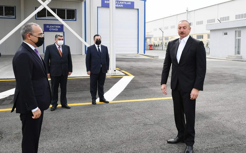 President Ilham Aliyev attends inauguration of Hajigabul Industrial Estate