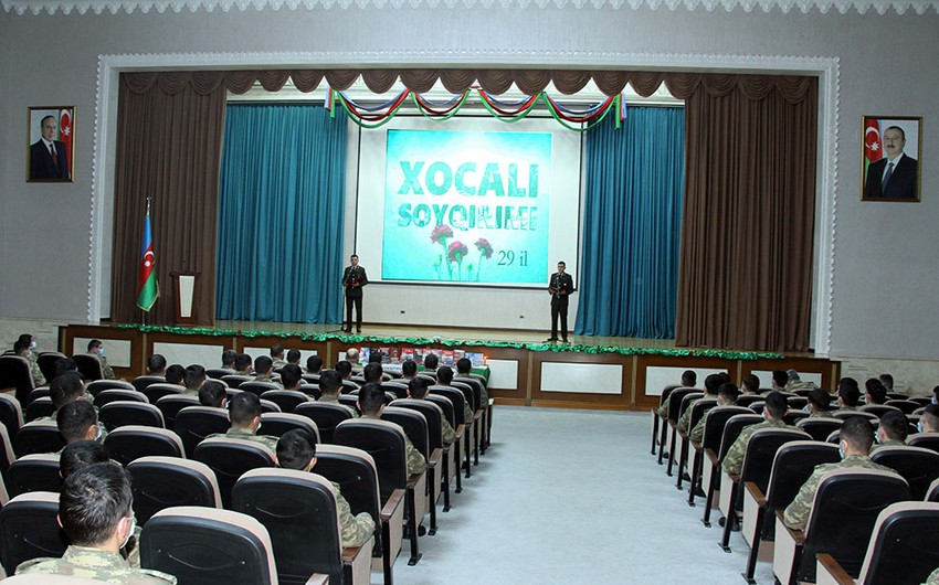Azerbaijan Army holds events on 29th anniversary of Khojaly genocide