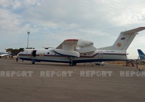 Azerbaijan's amphibious aircraft leaves for Turkey