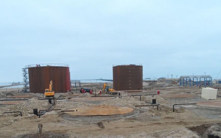 Pirallahıda yeni neft yığım parkı tikilir