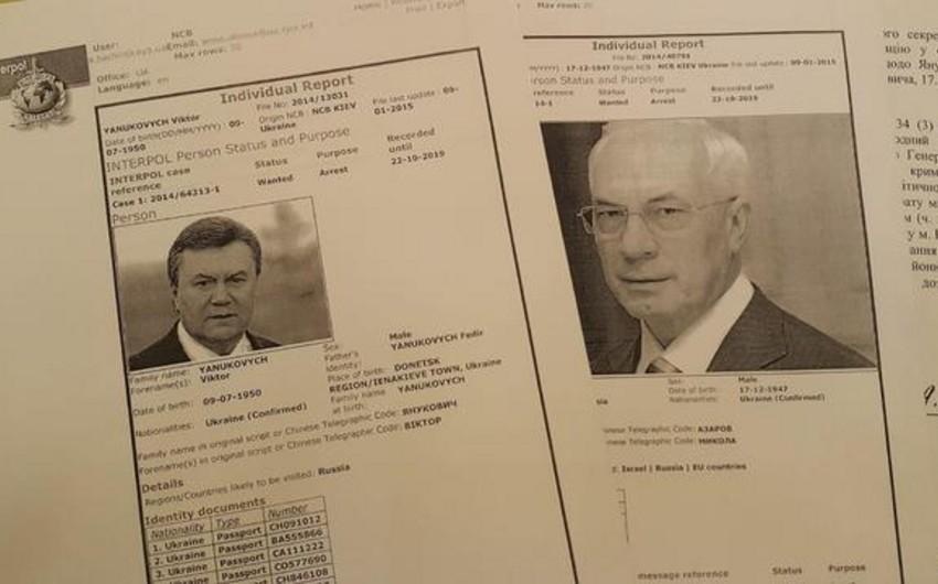 Экс-президент Украины и его соратники объявлены в розыск по линии Интерпола