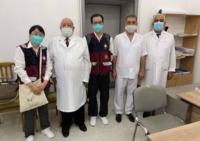 Çindən gələn həkimlər Respublika Klinik Xəstəxanasında olub