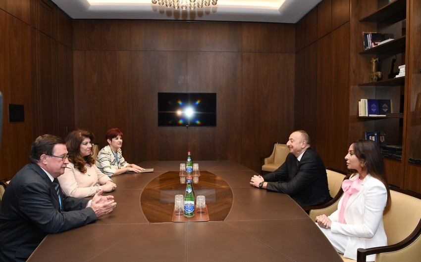 Prezidenti İlham Əliyev və birinci xanım Bolqarıstanın vitse-prezidenti ilə görüşüblər