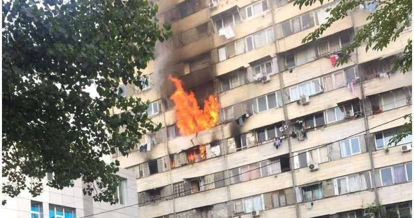 Tbilisidə yataqxanada baş verən yanğın söndürülüb - YENİLƏNİB