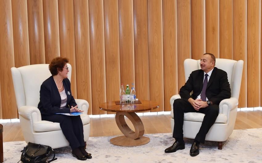 Prezident İlham Əliyev BMT baş katibinin müavinini qəbul edib