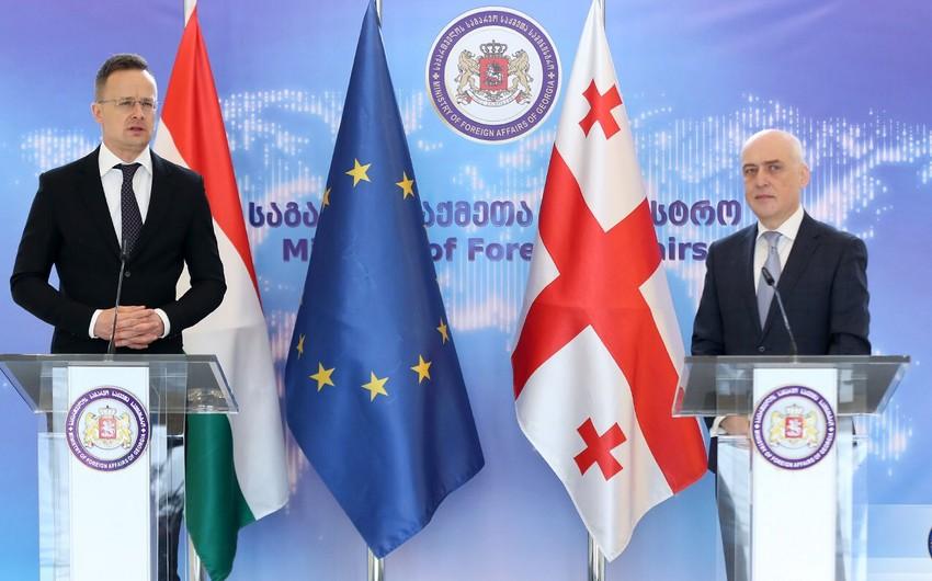 """XİN başçısı: """"Macarıstan Qafqazdan təbii qazın Avropaya çatdırılmasında maraqlıdır"""""""