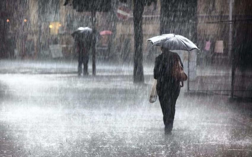 Sabah güclü yağış yağacaq, dolu düşəcək, şimşək çaxacaq