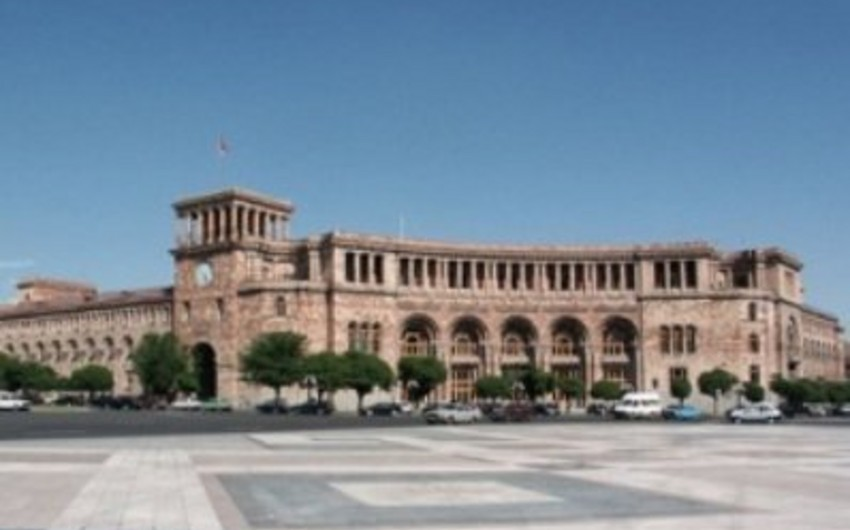 Ermənistan hökumətinin binası qarşısında etiraz aksiyası keçirilib