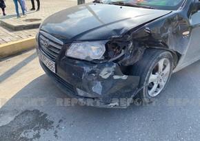Sumqayıtda iki avtomobil toqquşdu