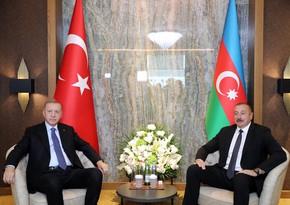 Состоялась встреча президентов Азербайджана и Турции