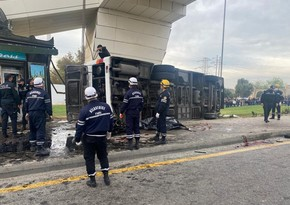 Тяжелое ДТП в Баку: 16 пострадавших помещены в больницу
