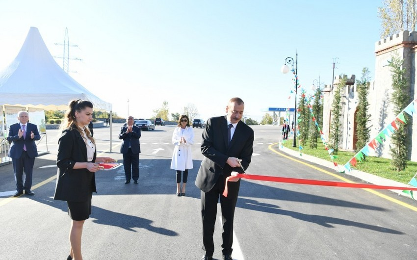 President and First Lady attend inauguration of Shaki-Kish highway