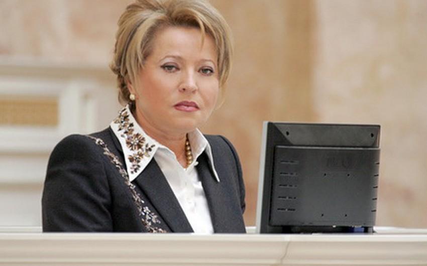 Azərbaycan prezidenti Rusiya Federal Məclisinin Federasiya Şurasının sədrini Valentina Matviyenkonu qəbul edib