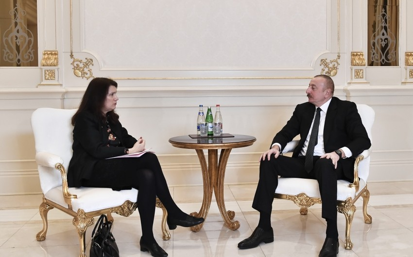 President Ilham Aliyev receives delegation led by OSCE Chairperson-in-Office
