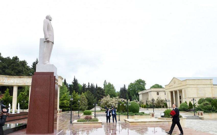 Prezident İlham Əliyevin Ağsu rayonuna səfəri başlayıb