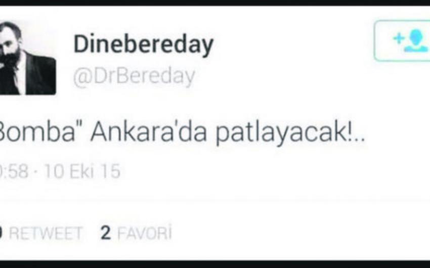 Задержаны лица, написавшие в Twitter Бомба взорвется в Анкаре