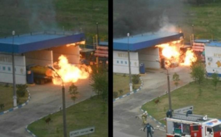 Qırğızıstanda yanacaqdoldurma məntəqəsində partlayış olub, 2 nəfər ölüb