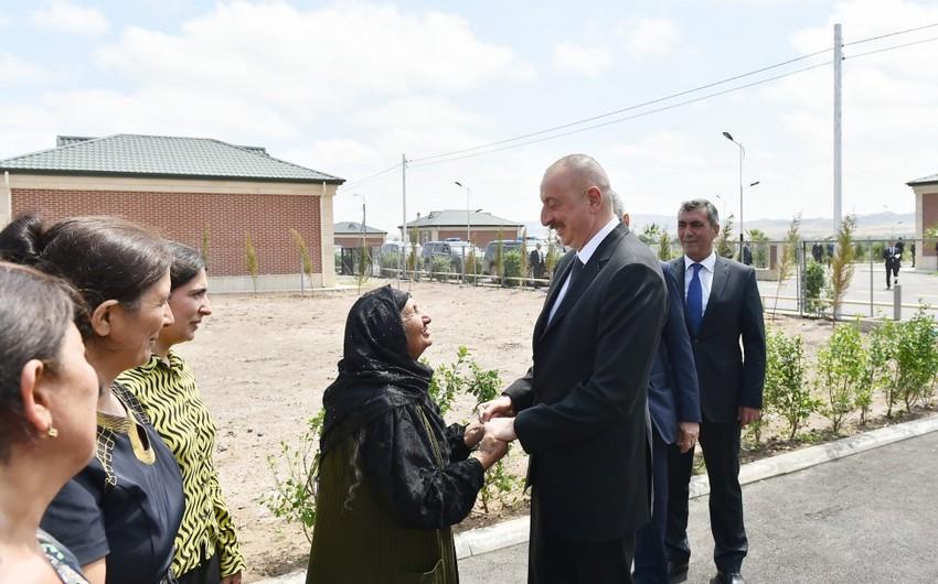 Президент Ильхам Алиев прибыл в заново отстроенное село Джоджуг Мерджанлы