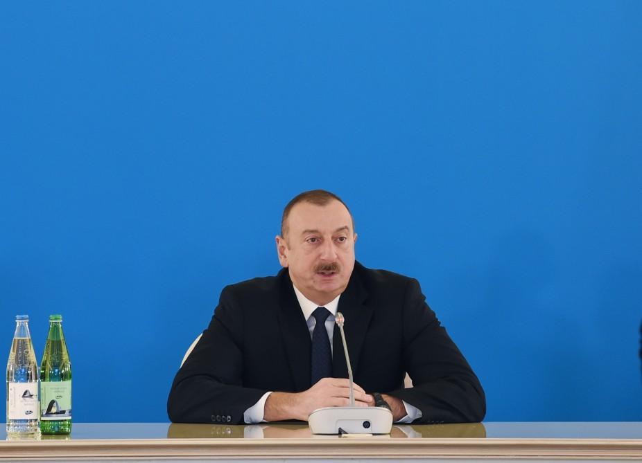 """Dövlət başçısı: """"Cənub Qaz Dəhlizi"""" layihəsi ölkəmizə yeni faydalar verir"""