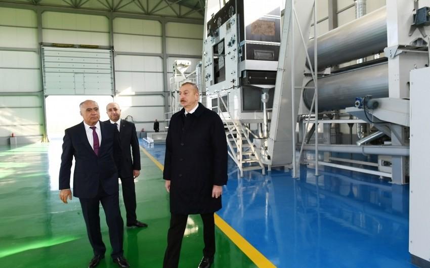 Prezident Kürdəmirdə aqroparkın təqdimatında iştirak etdi - YENİLƏNİB - FOTO