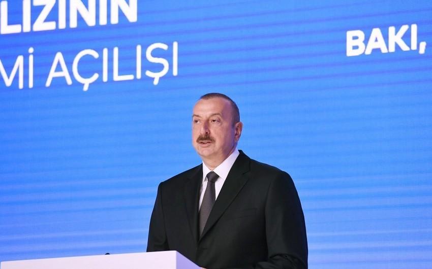 Prezident İlham Əliyev: 2020-ci ildə Azərbaycan qazı Avropaya nəql olunacaq