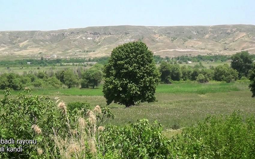 Footage from Tinli village of Gubadli