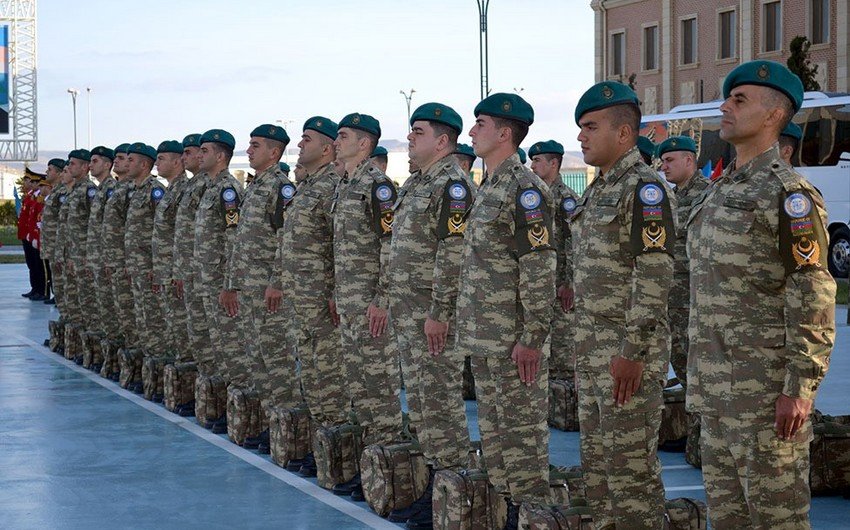 Group of Azerbaijani peacekeepers sent to Afghanistan