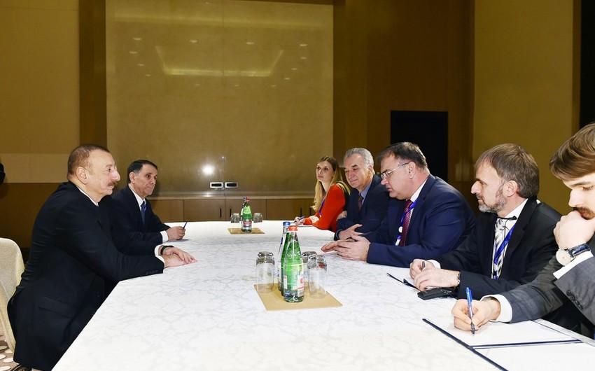 Президент Ильхам Алиев встретился с членом Президиума Боснии и Герцеговины