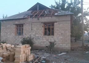 Ermənilərin Bərdəyə raket atması nəticəsində 5 fərdi evə ciddi ziyan dəyib