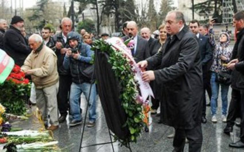 Gürcüstanda 9 aprel faciəsi qurbanlarının xatirəsini anılıb