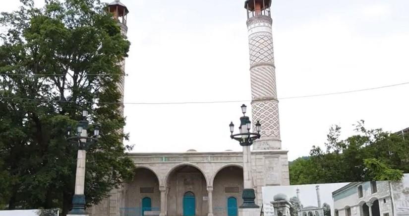 В трех мечетях в Шуше ведутся ремонтно-реставрационные работы - ВИДЕО