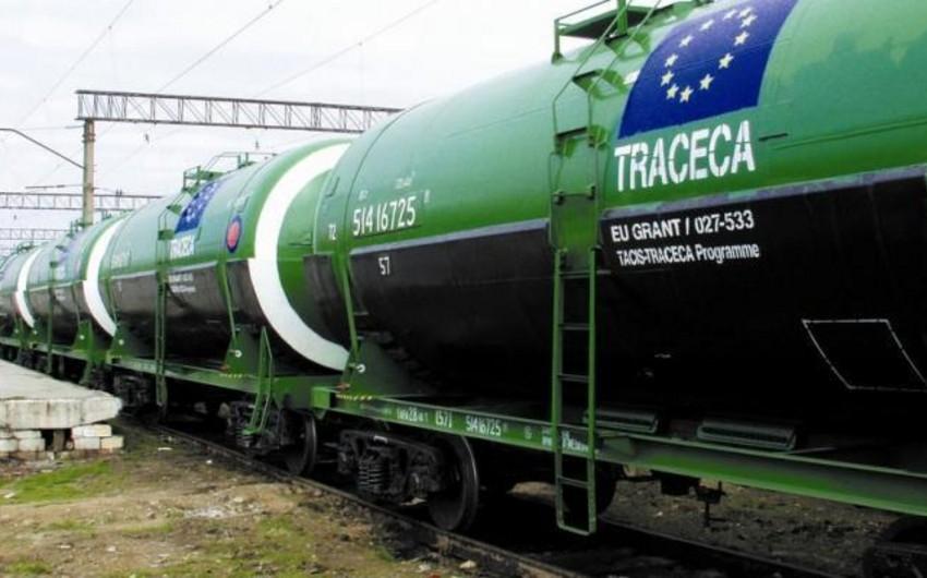 TRACECA-nın Azərbaycan hissəsi ilə daşınmış tranzit yüklərin həcmi 15% azalıb