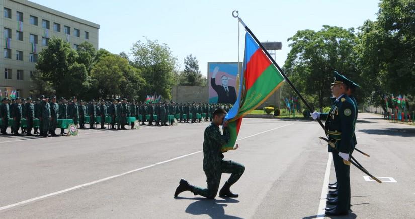 В воинской части ГПС Азербайджана прошла церемония присяги молодых солдат
