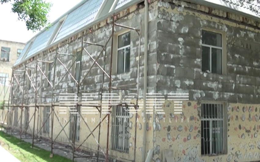 Kürdəmirdə sökülən binaların üzlənməsinə başlanılıb - FOTO