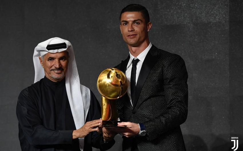 Роналду признан лучшим футболистом 2018 года по версии Globe Soccer Awards