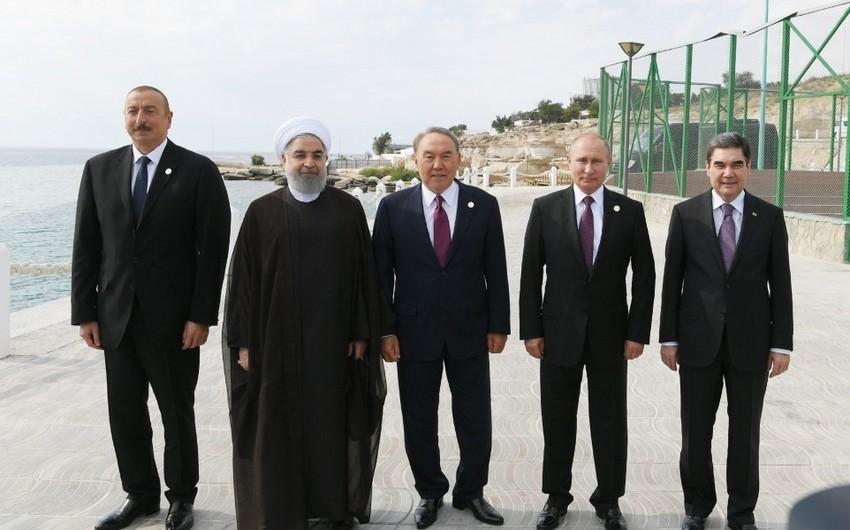 Aktau Zirvə toplantısının iştirakçılarının şərəfinə rəsmi qəbul təşkil edilib