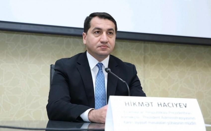 """Hikmət Hacıyev """"Sərhədsiz reportyorlar"""" təşkilatına və ATƏT-ə çağırış etdi"""