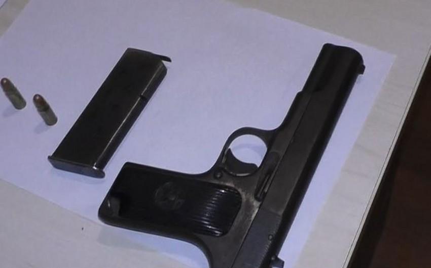 Qazax sakinində silah aşkarlandı