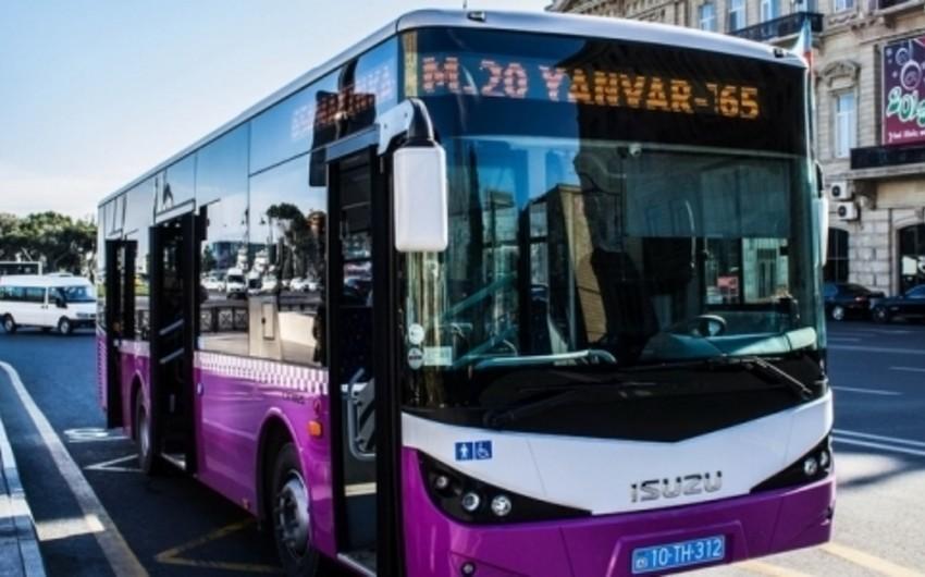 Sabaha nəzərdə tutulan avtobus marşrutlarının dəyişdirilməsi təxirə salınır