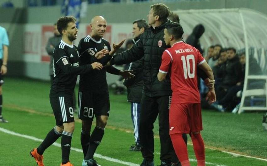 Keşlə - Qarabağ oyununda insident