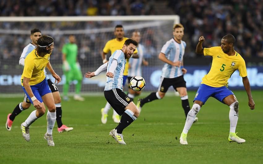 Braziliya Argentinaya qalib gələrək Amerika Kubokunun finalına yüksəlib - VİDEO