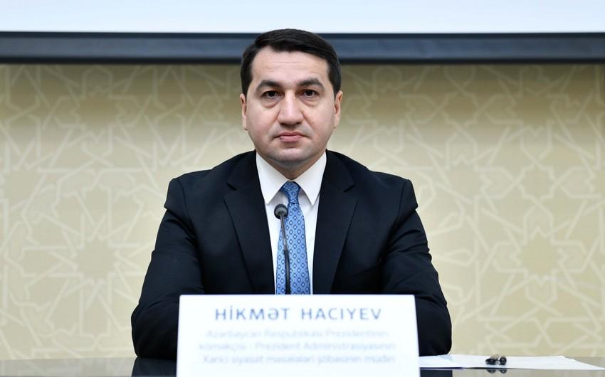 Prezidentin köməkçisindən Ermənistanın təxribatı ilə bağlı yeni açıqlama