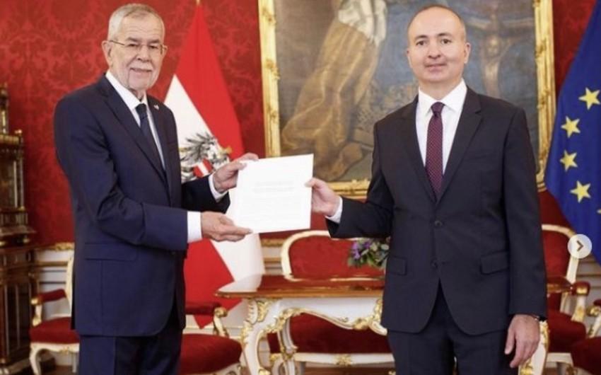 Azərbaycan səfiri etimadnaməsini Avstriya prezidentinə təqdim edib