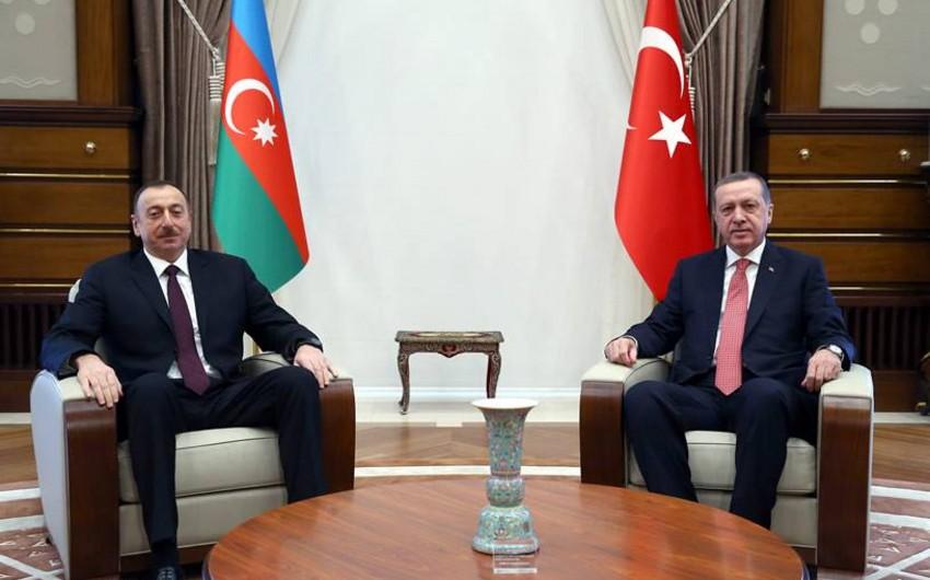 Состоялась встреча один на один президентов Азербайджана и Турции