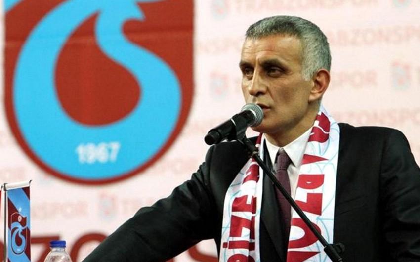 Trabzonspor klubunun prezidenti barəsində həbs qətimkan tədbiri seçilib