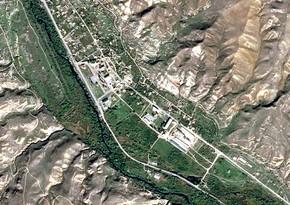 Qubadlı şəhərinin peykdən görüntüsü