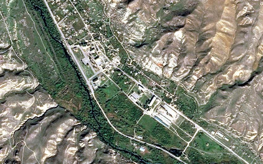 Снимок города Губадлы со спутника
