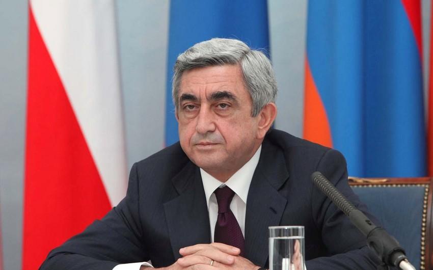 """Serj Sarqsyan: """"Ermənistan tərəfi 18 hərbçisini itirib, 35 nəfər yaralanıb"""""""