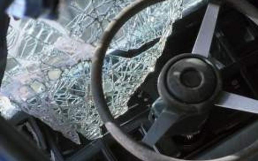 Astarada qəzaya uğrayan avtomobillərdən biri yanıb