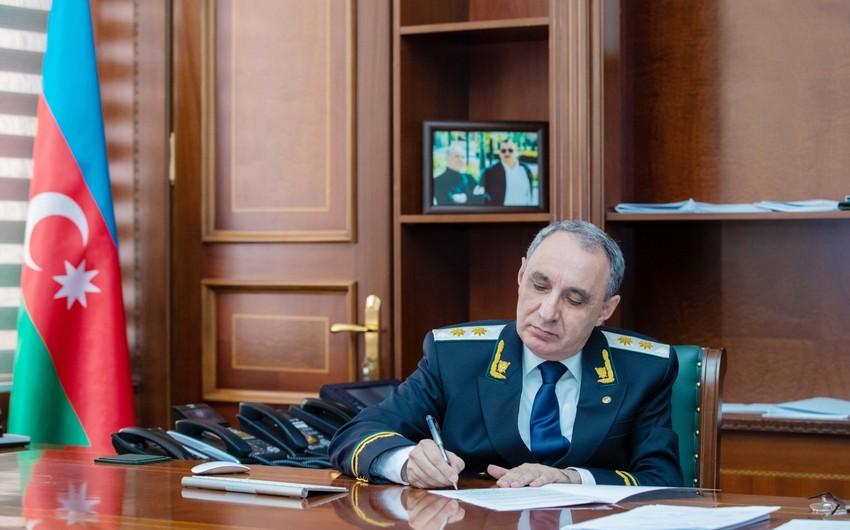 Prosecutor General of Azerbaijan appeals to international organizations